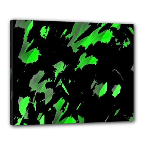 Painter Was Here   Green Canvas 20  X 16  by Valentinaart