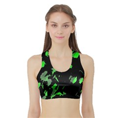 Painter Was Here - Green Sports Bra With Border by Valentinaart