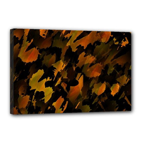 Abstract Autumn  Canvas 18  X 12  by Valentinaart