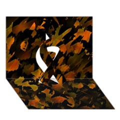 Abstract Autumn  Ribbon 3d Greeting Card (7x5) by Valentinaart