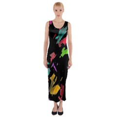 Painter Was Here Fitted Maxi Dress by Valentinaart