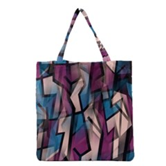 Purple High Art Grocery Tote Bag