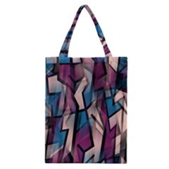 Purple High Art Classic Tote Bag by Valentinaart
