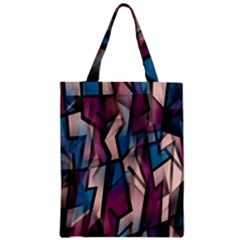 Purple High Art Zipper Classic Tote Bag by Valentinaart