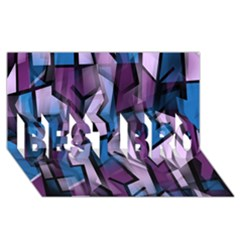 Purple Decorative Abstract Art Best Bro 3d Greeting Card (8x4) by Valentinaart