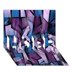 Purple Decorative Abstract Art Hope 3d Greeting Card (7x5) by Valentinaart