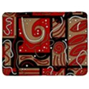 Red and brown abstraction Samsung Galaxy Tab 7  P1000 Flip Case View1