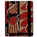 Red and brown abstraction Samsung Galaxy Tab 7  P1000 Flip Case View2