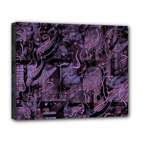 Purple Town Deluxe Canvas 20  X 16   by Valentinaart
