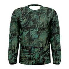 Green Town Men s Long Sleeve Tee