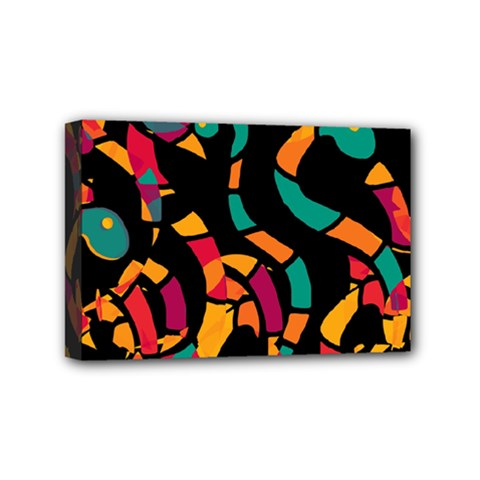 Colorful Snakes Mini Canvas 6  X 4  by Valentinaart