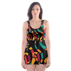 Colorful Snakes Skater Dress Swimsuit by Valentinaart
