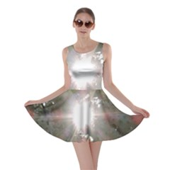 Sun Rays Through White Cherry Blossoms Skater Dress