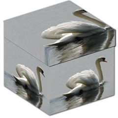 Swimming White Swan Storage Stool 12   by picsaspassion