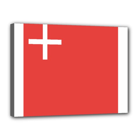 Flag Of Canton Of Schwyz Canvas 16  X 12  by abbeyz71