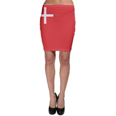 Flag Of Canton Of Schwyz Bodycon Skirt by abbeyz71
