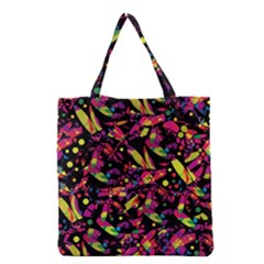 Colorful Dragonflies Design Grocery Tote Bag by Valentinaart