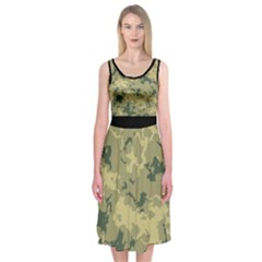 Greencamouflage Midi Sleeveless Dress by RespawnLARPer