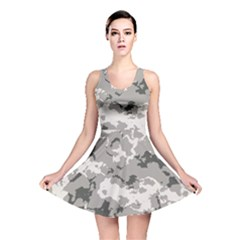 Winter Camouflage Reversible Skater Dress
