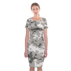 Winter Camouflage Classic Short Sleeve Midi Dress by RespawnLARPer