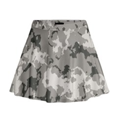 Winter Camouflage Mini Flare Skirt