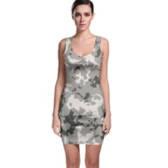 Winter Camouflage Sleeveless Bodycon Dress by LetsDanceHaveFun
