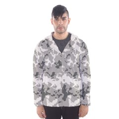 Winter Camouflage Hooded Wind Breaker (men) by LetsDanceHaveFun
