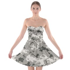Winter Camouflage Strapless Bra Top Dress by LetsDanceHaveFun