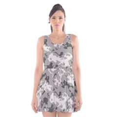 Winter Camouflage Scoop Neck Skater Dress by LetsDanceHaveFun