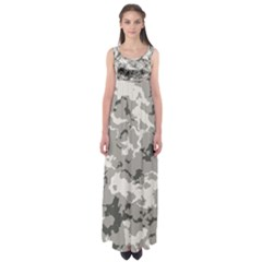 Winter Camouflage Empire Waist Maxi Dress by LetsDanceHaveFun