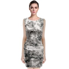 Winter Camouflage Classic Sleeveless Midi Dress by LetsDanceHaveFun