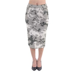 Winter Camouflage Midi Pencil Skirt by LetsDanceHaveFun