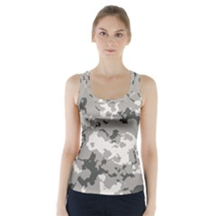 Winter Camouflage Racer Back Sports Top