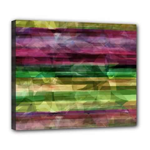 Colorful Marble Deluxe Canvas 24  X 20   by Valentinaart
