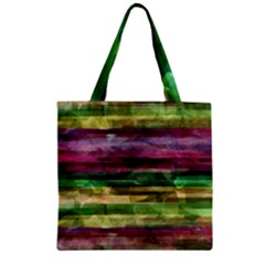 Colorful Marble Zipper Grocery Tote Bag by Valentinaart