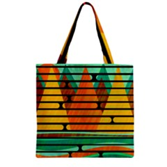 Decorative Autumn Landscape Zipper Grocery Tote Bag by Valentinaart