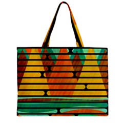 Decorative Autumn Landscape Zipper Mini Tote Bag by Valentinaart