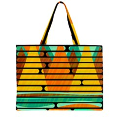Decorative Autumn Landscape Zipper Large Tote Bag by Valentinaart