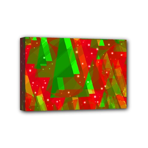 Xmas Trees Decorative Design Mini Canvas 6  X 4  by Valentinaart