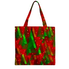 Xmas Trees Decorative Design Zipper Grocery Tote Bag by Valentinaart