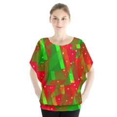 Xmas Trees Decorative Design Blouse by Valentinaart