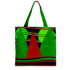 Magical Xmas Night Zipper Grocery Tote Bag by Valentinaart