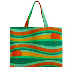 Green And Orange Decorative Design Zipper Mini Tote Bag by Valentinaart