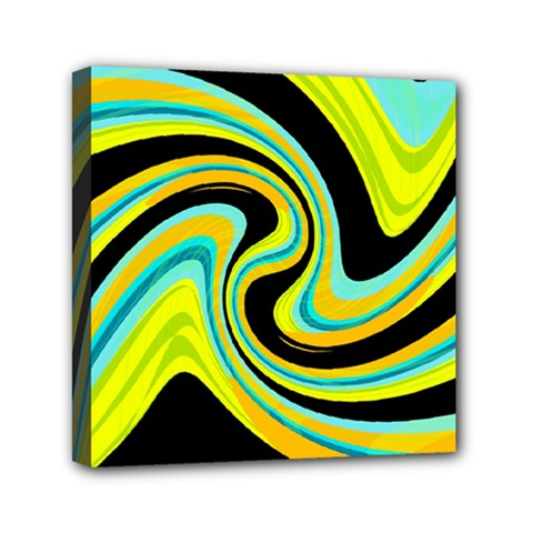 Blue And Yellow Mini Canvas 6  X 6  by Valentinaart