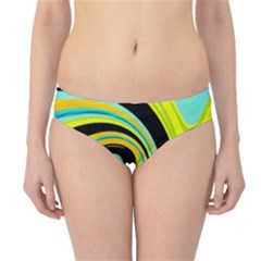 Blue And Yellow Hipster Bikini Bottoms by Valentinaart