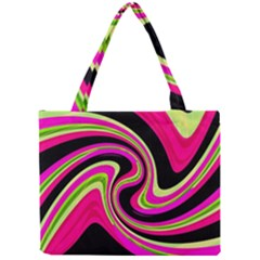 Magenta And Yellow Mini Tote Bag by Valentinaart