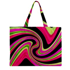 Magenta And Yellow Zipper Mini Tote Bag by Valentinaart