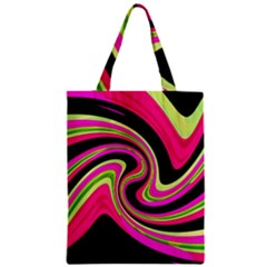 Magenta And Yellow Zipper Classic Tote Bag by Valentinaart