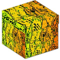 Gentle Yellow Abstract Art Storage Stool 12   by Valentinaart