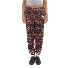 Brown Confusion Women s Jogger Sweatpants by Valentinaart